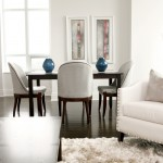 White Living and Dining Room